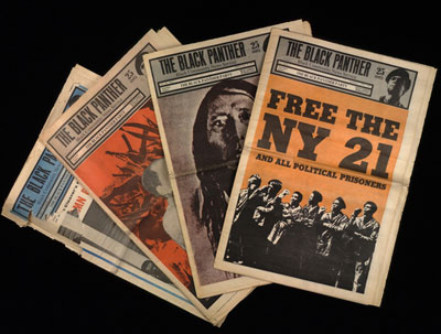 Black Panther newspapers